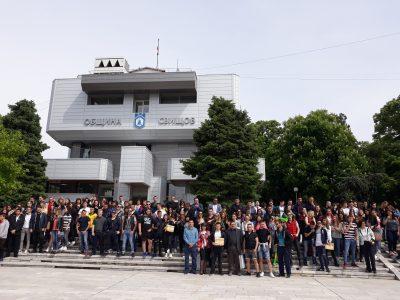 Специални поздрави към абитуриентите отправи за втора поредна година ръководството на община Свищов