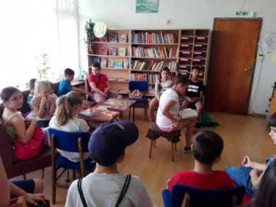 Лятна работа с деца в Градската библиотека- гр. Свищов