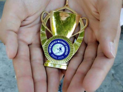 """Златен медал от международното състезание """"Математика без граници"""" за Божидара от Средно Училище Николай Катранов"""
