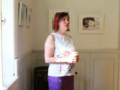 Възпитаничка на Стопанската академия откри изложба с акварелни творби в рамките на фестивала Реката 2020