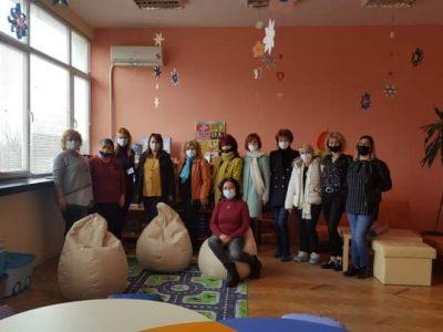 Дамите от INEER WHEEL CLUB град Свищов с Президент за 2020/2021 година д-р Румяна Николаева, посетиха Център за обществена подкрепа град Свищов