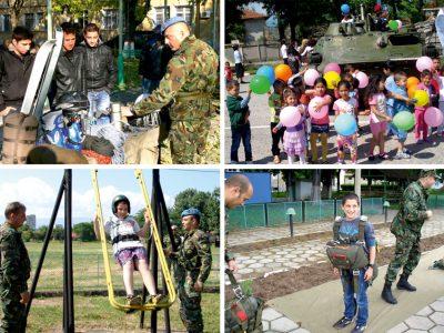 """""""Ден на отворените врати"""" във военно формирование 28880 – Белене, свързани с обучението на ученици от средното образование по отбраната на страната"""
